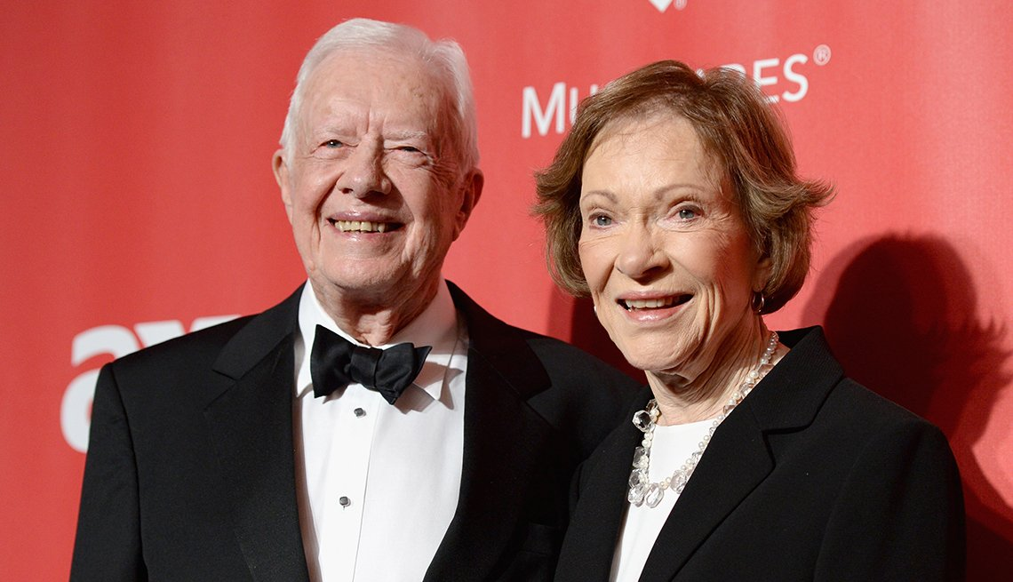 item 9 of Gallery image - Former U S President Jimmy Carter and former First Lady Rosalynn Carter attend the 25th anniversary MusiCares 2015 Person Of The Year Gala
