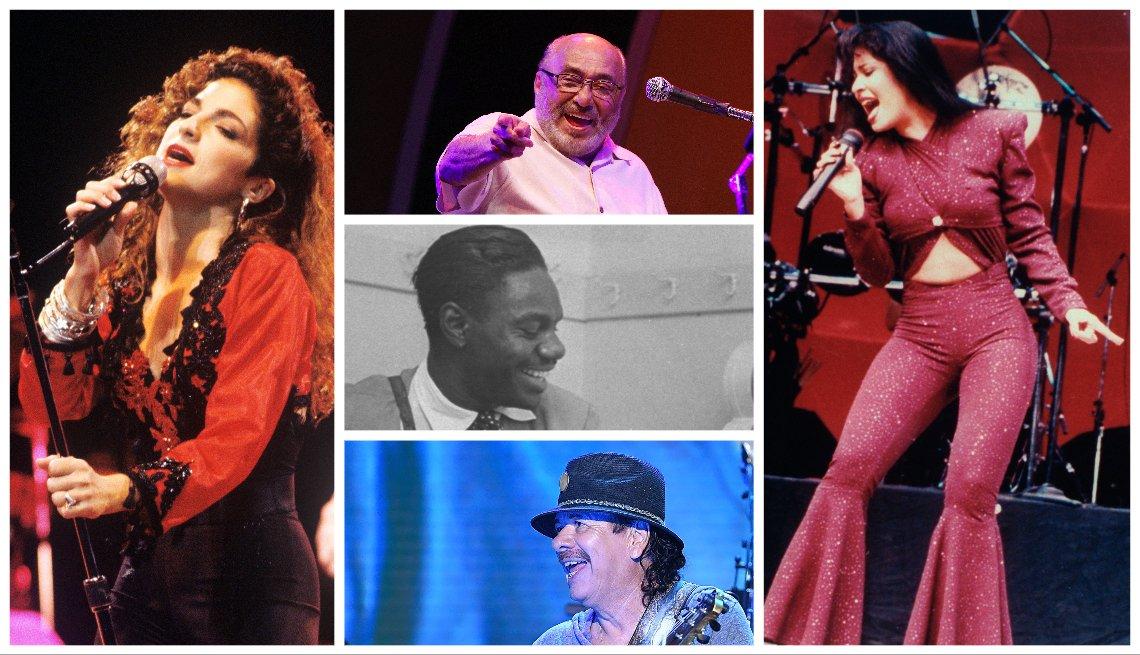 Gloria Estefan, Eddie Palmieri, Chano Pozo, Carlos Santana, Selena