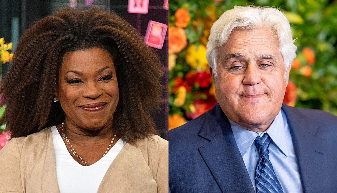 Actress Lorraine Toussaint and T V host Jay Leno