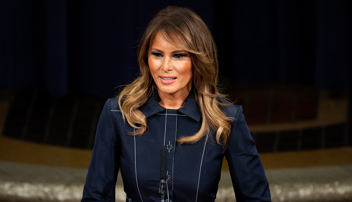 item 6 of Gallery image - First Lady Melania Trump speaks at the Department of Justice National Opioid Summit in Washington D C