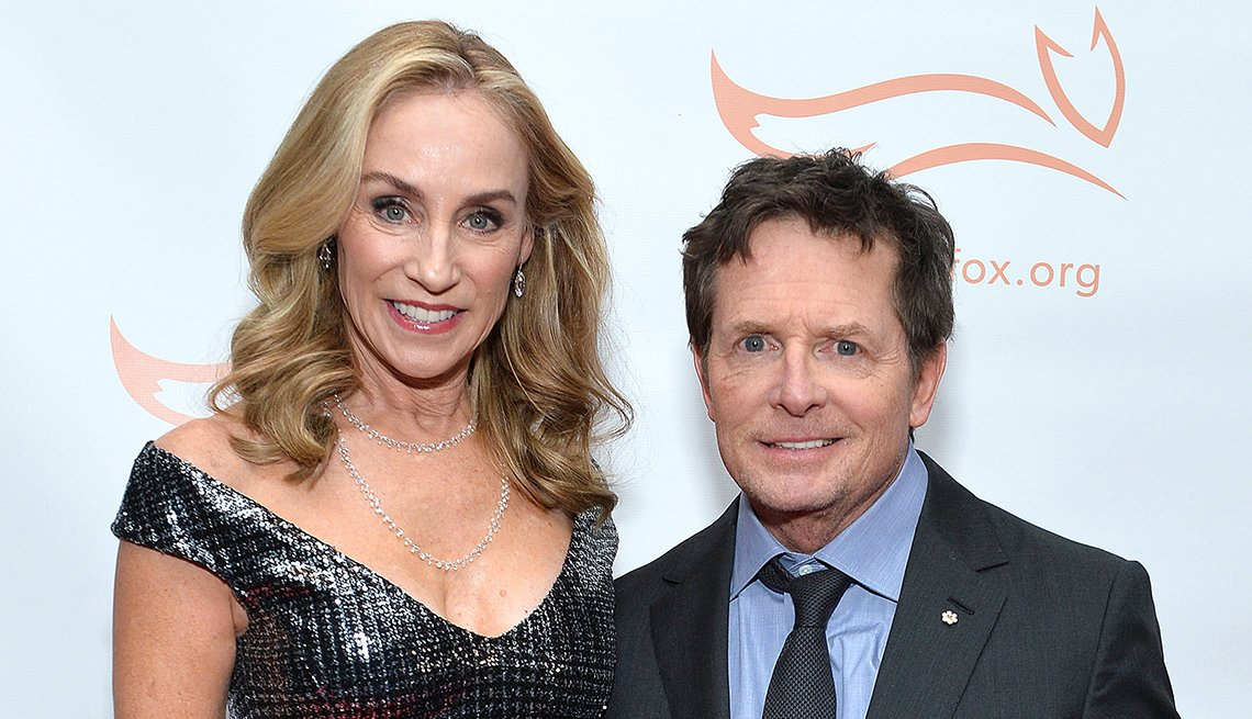 item 4 of Gallery image - couple tracey pollan and michael j fox