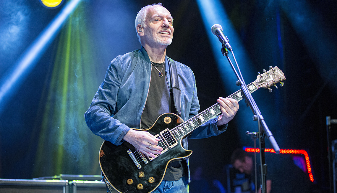 item 3 of Gallery image - Musician Peter Frampton performs on stage at Cal Coast Credit Union Open Air Theatre on October 2 2019 in San Diego California