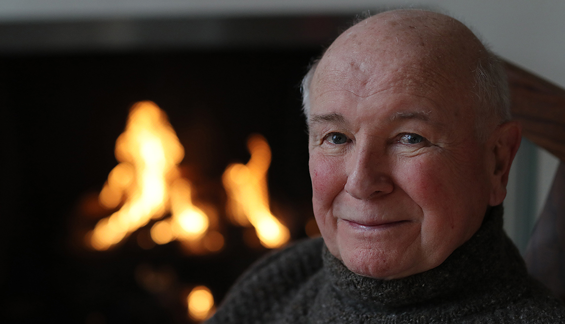 item 52 of Gallery image - Playwright Terrence McNally sits in front of a fireplace in his home on March 2 2020 in New York City
