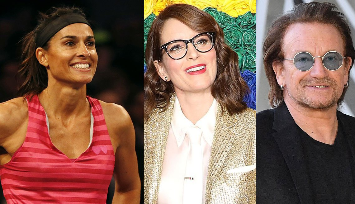 Gabriela Sabatini, Tina Fey, Bono
