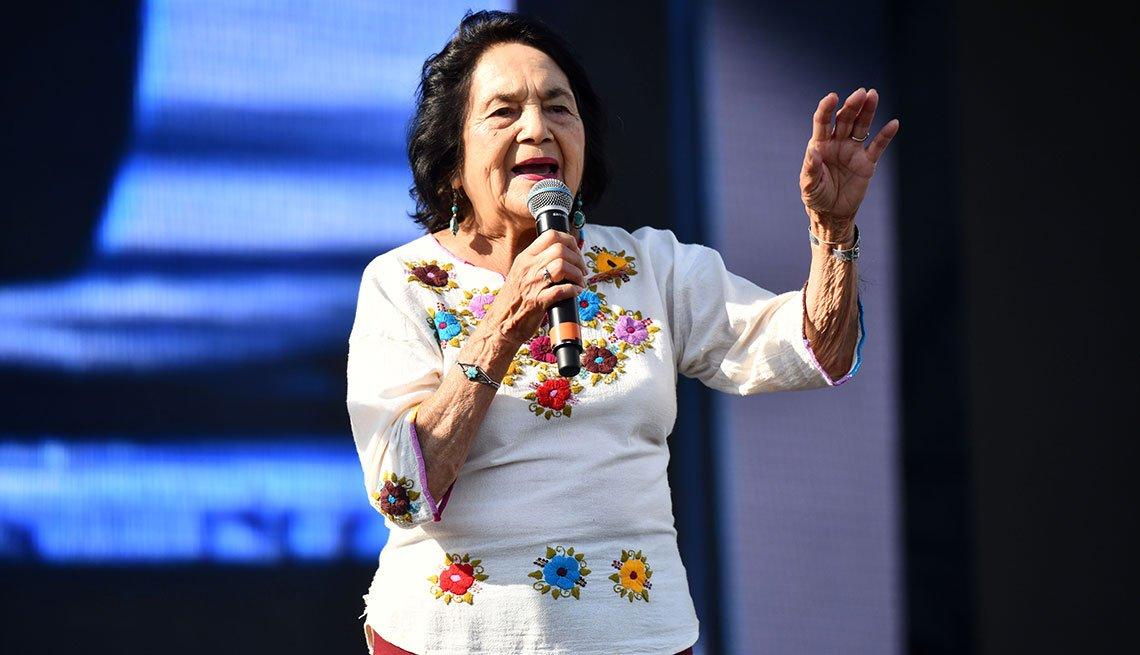 Dolores Huerta, en el Yola Dia Fest, Los Ángeles Historical Park, California, agosto 18, 2019.