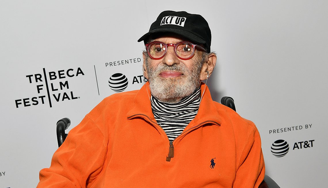 medium close up of Larry Kramer attending Tribeca Celebrates Pride Day at 2019 Tribeca Film Festival in New York City