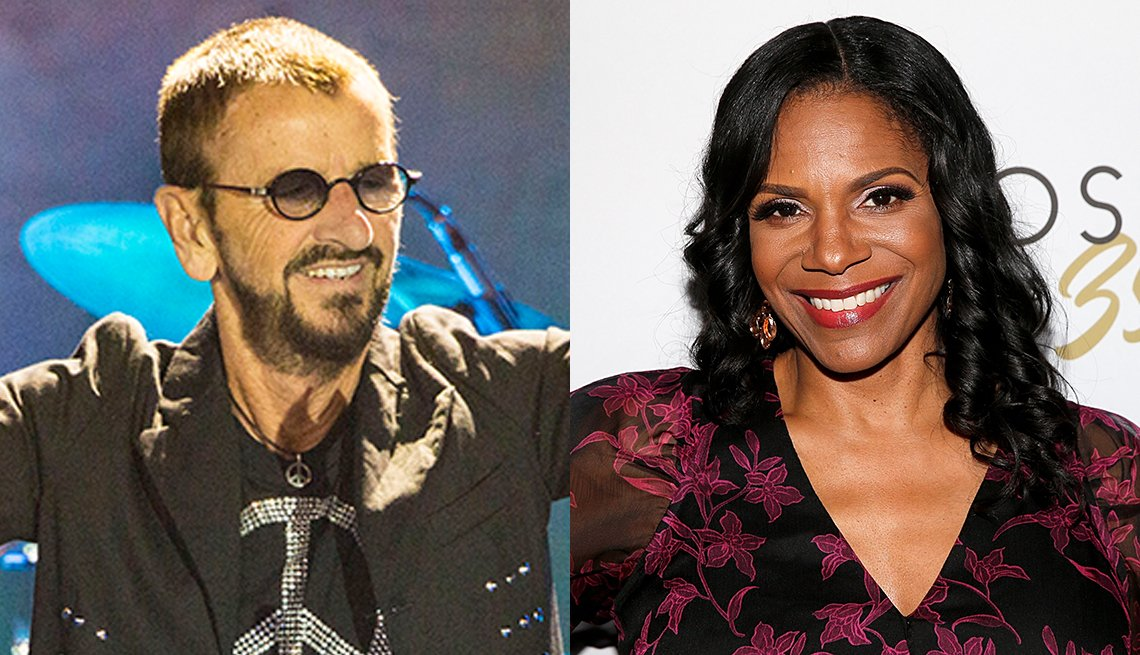 Side by side images of Ringo Starr and Audra McDonald