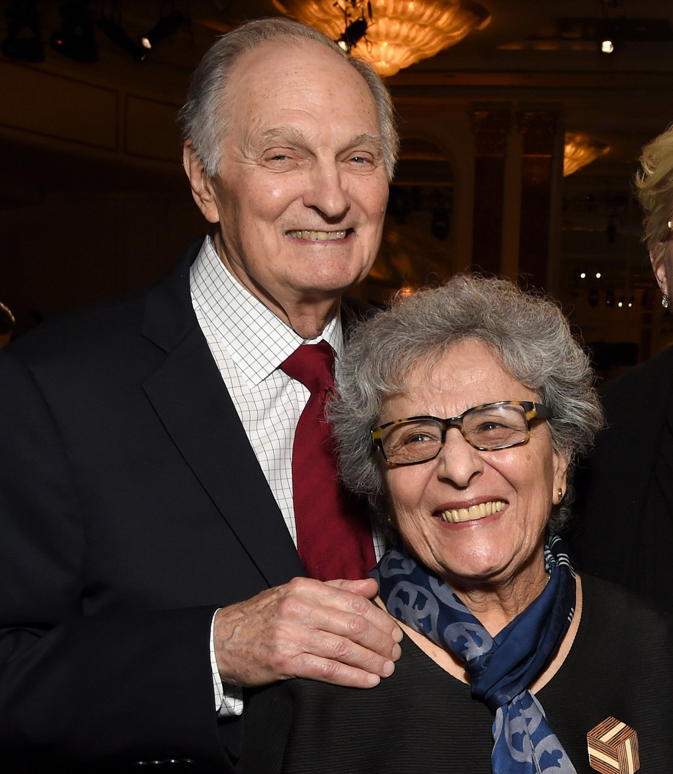 actor alan alda and his wife arlene smiling at a hollywood event