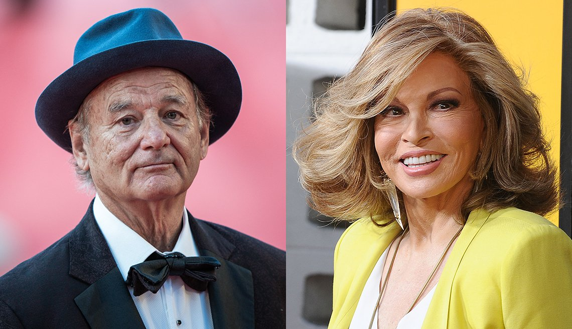 Actor Bill Murray and actress Raquel Welch