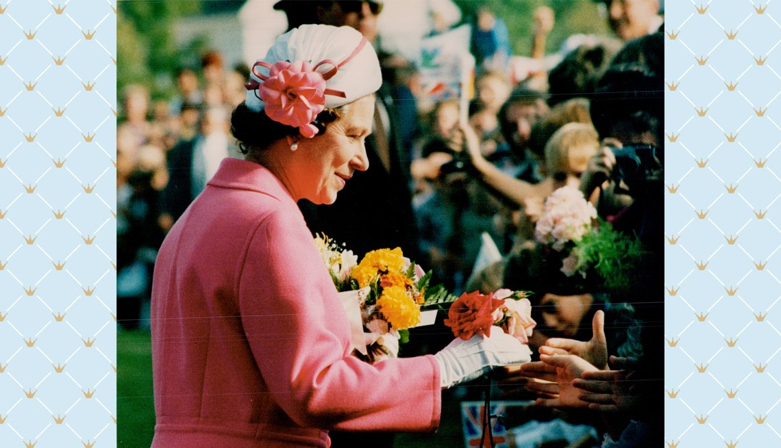 item 3 of Gallery image - Queen Elizabeth II greeting people during a 1984 royal visit in Canada