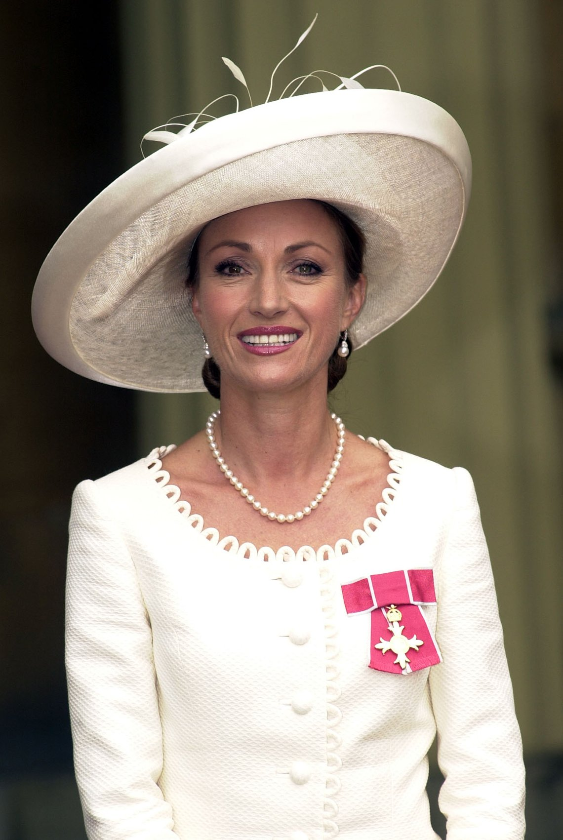 Actress Jane Seymour at Buckingham Palace after receiving an OBE from Queen Elizabeth II