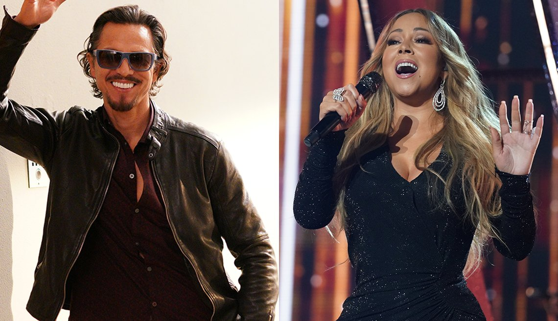 El actor Benjamin Bratt y la cantante Mariah Carey.