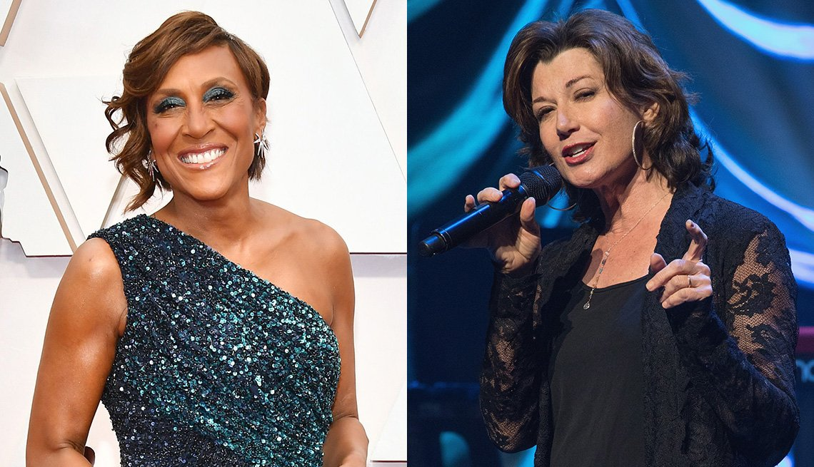 Good Morning America anchor Robin Roberts and musician Amy Grant
