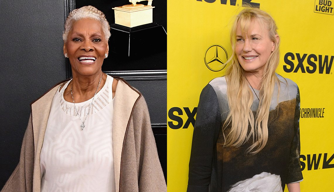 Singer Dionne Warwick and actress Daryl Hannah