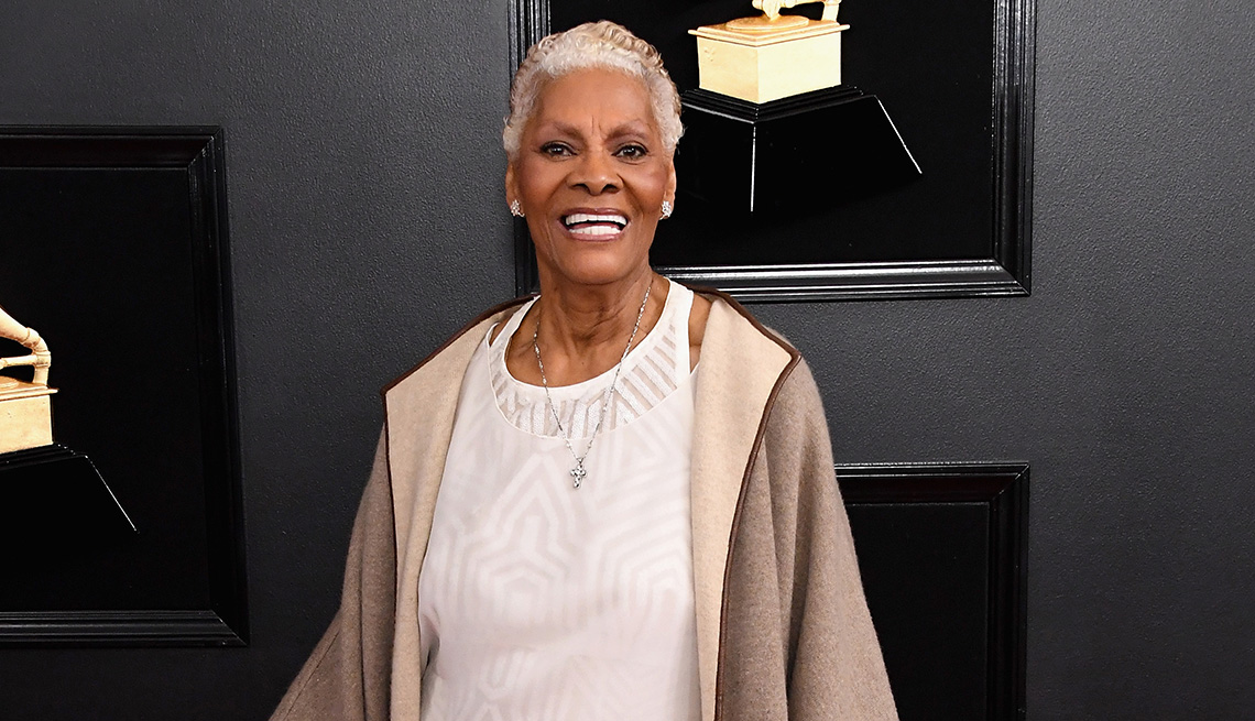 item 8 of Gallery image - Dionne Warwick on the red carpet at the 61st Annual GRAMMY Awards