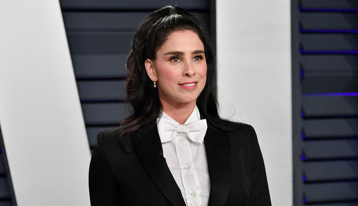 item 1 of Gallery image - Sarah Silverman at the 2019 Vanity Fair Oscar Party