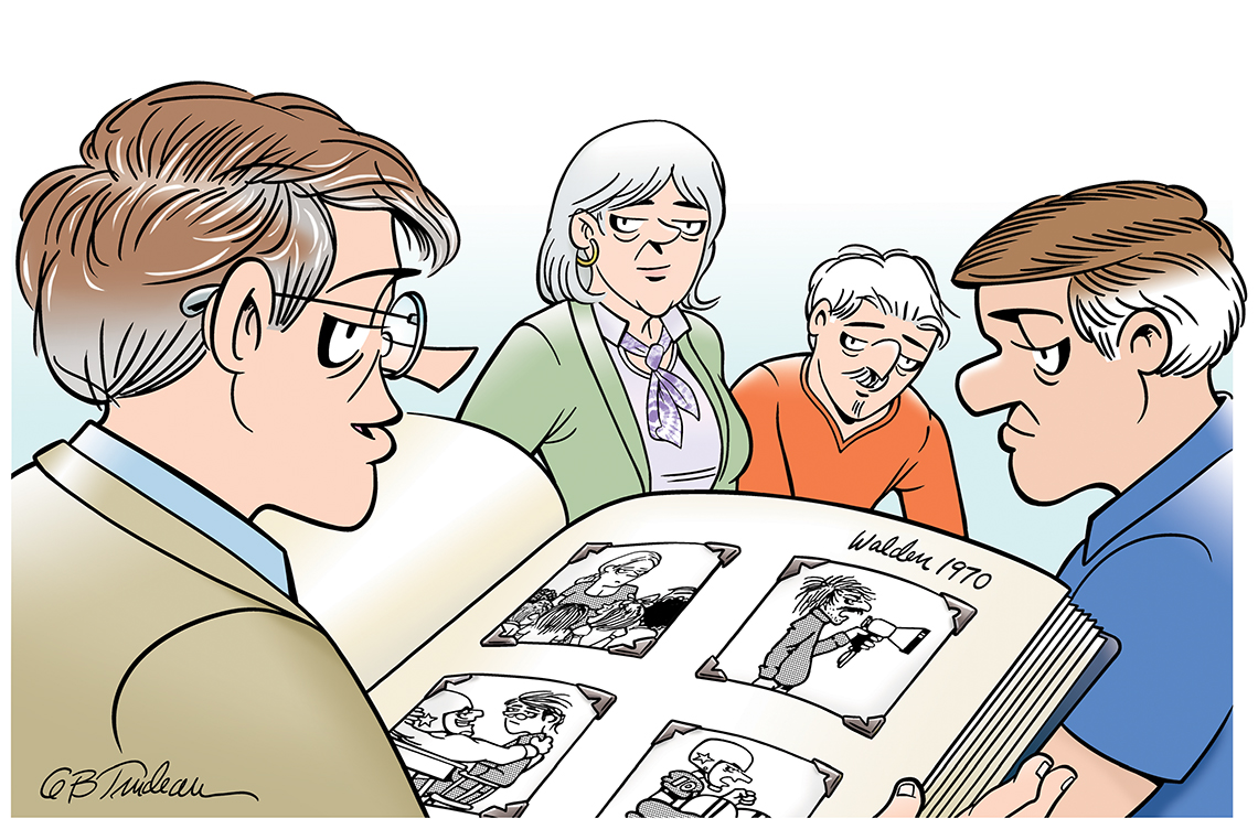 doonesbury cartoon panel created exclusively for a a r p by garry trudeau