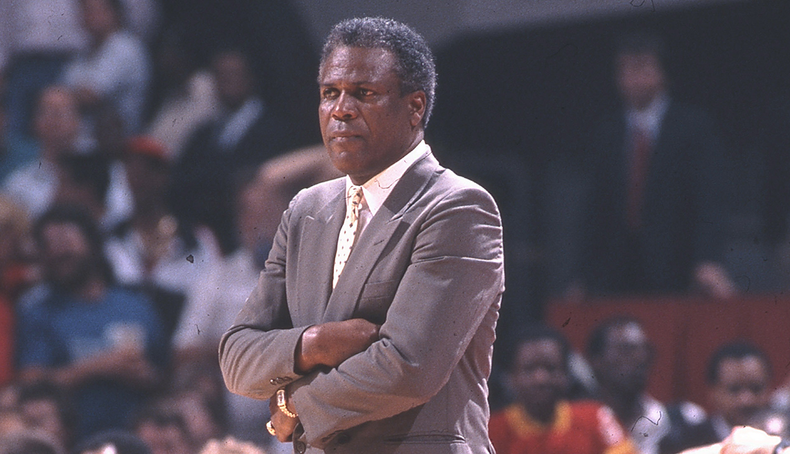 item 4 of Gallery image - K.C. Jones coaching a game in 1988