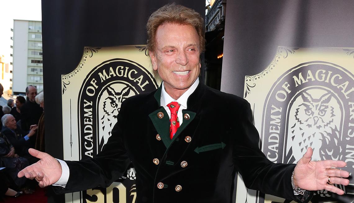 El maestro ilusionista Siegfried Fischbacher.