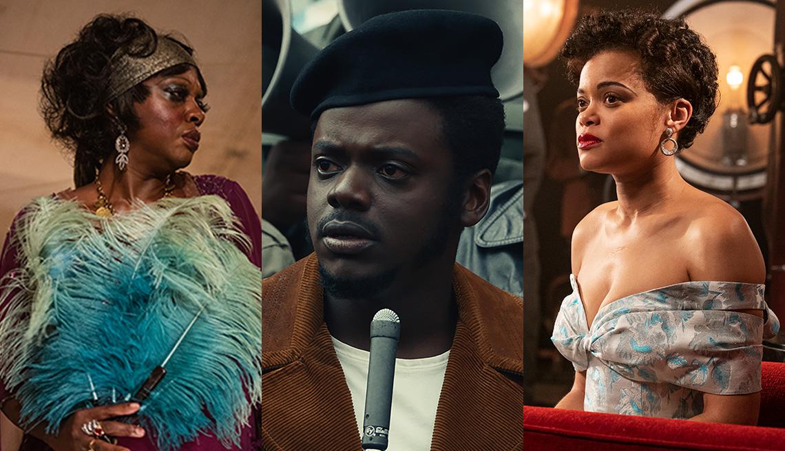 Viola Davis como Ma Rainey, Daniel Kaluuya como Fred Hampton y Andra Day como Billie Holiday.