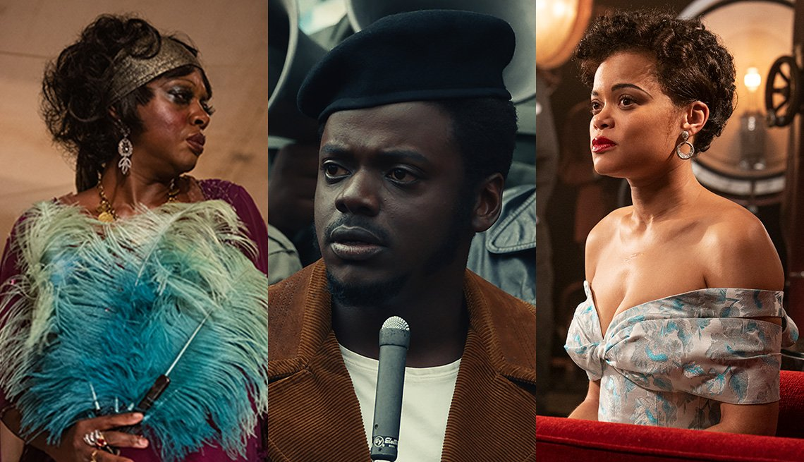 Viola Davis como Ma Rainey, Daniel Kaluuya como Fred Hampton y Andra Day como Billie Holiday.