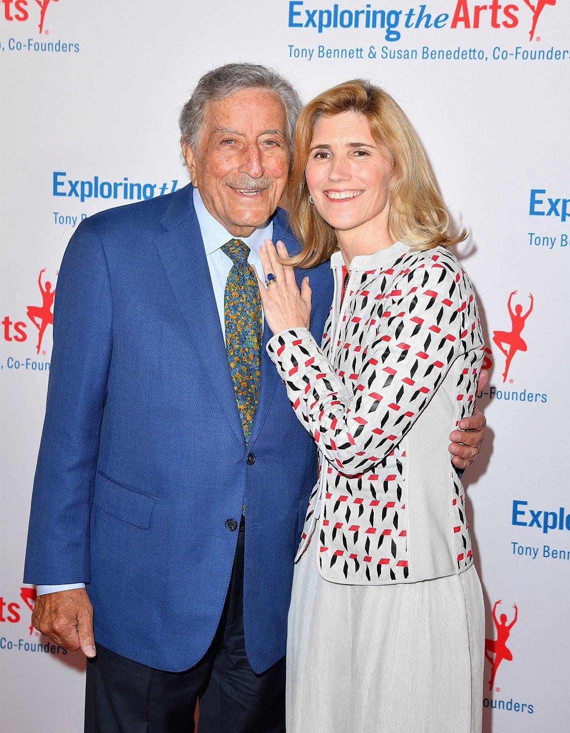 Tony Bennett y su esposa Susan, en Nueva York en 2019