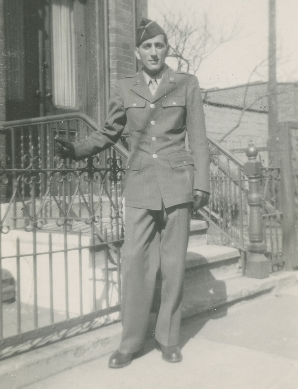 Tony Bennett in his Army uniform in 1946