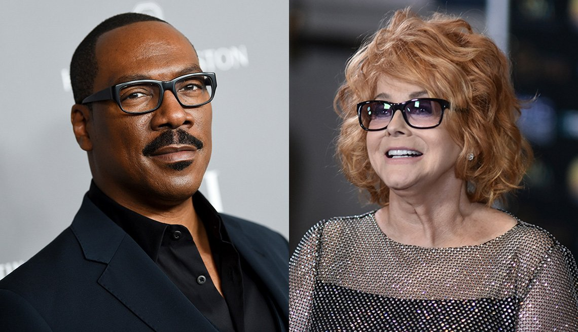 Side by side images of Eddie Murphy and Ann Margret