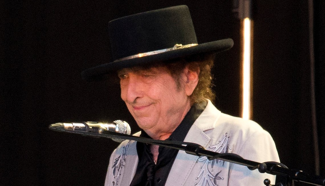 item 8 of Gallery image - Bob Dylan playing the piano at British Summer Time in London