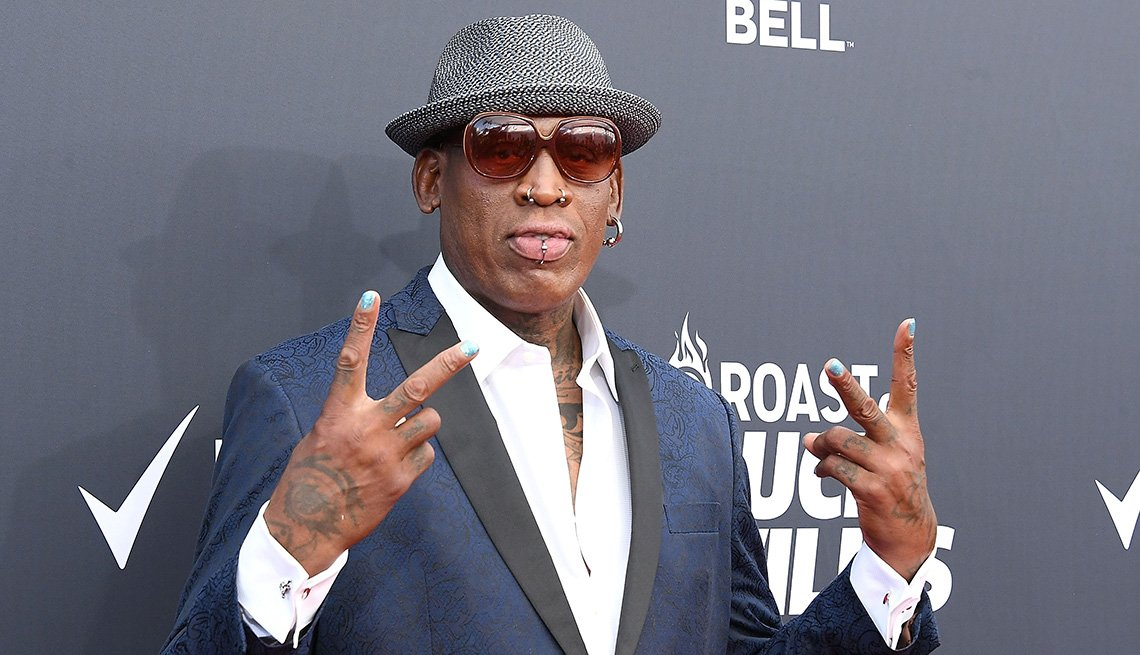 item 4 of Gallery image - Former NBA player Dennis Rodman