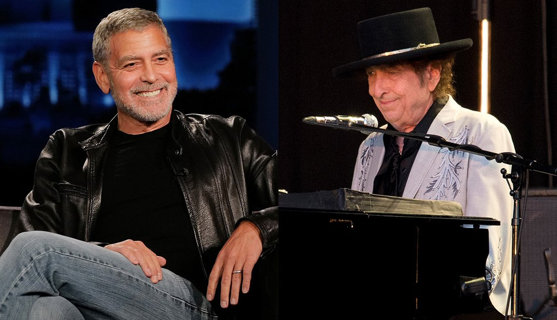 George Clooney and Bob Dylan