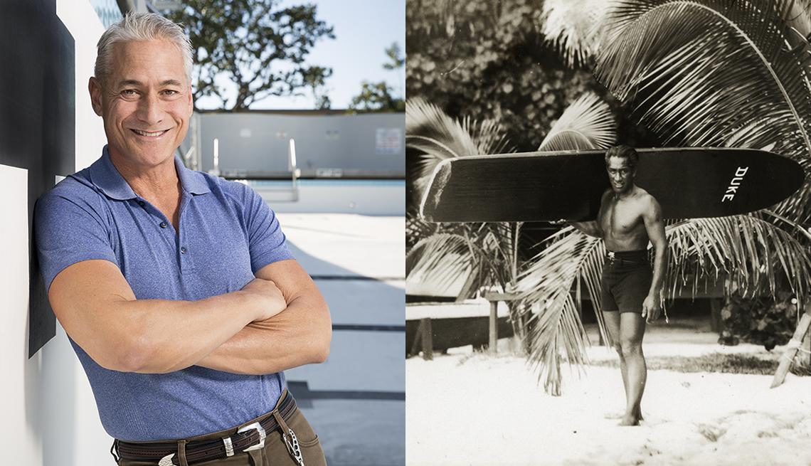 Greg Louganis y Duke Kahanamoku.