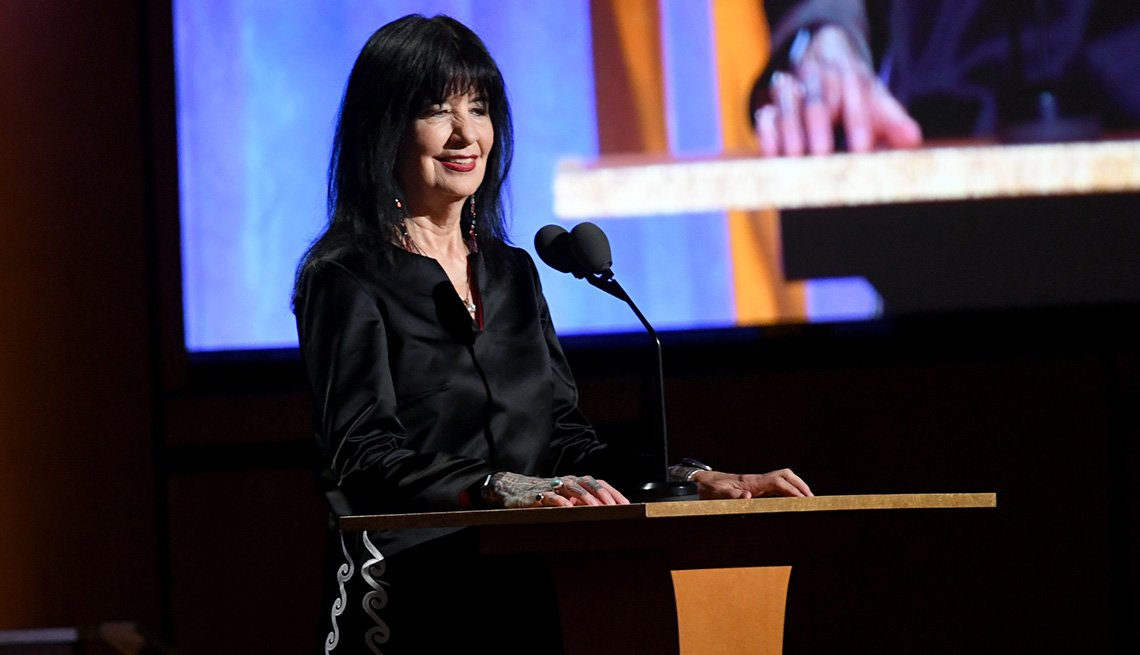 item 3 of Gallery image - Poet Joy Harjo speaks onstage