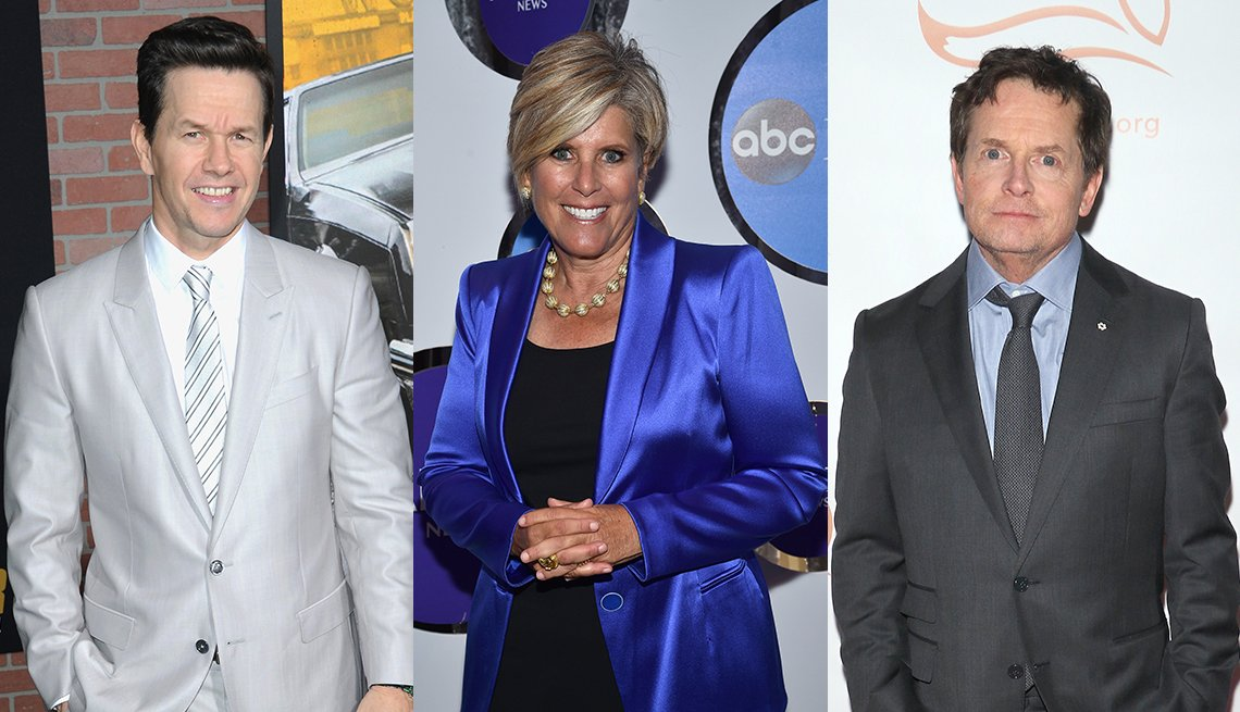 three celebrities with june birthdays mark wahlberg turns fifty suze orman turns seventy and michael j fox will be sixty