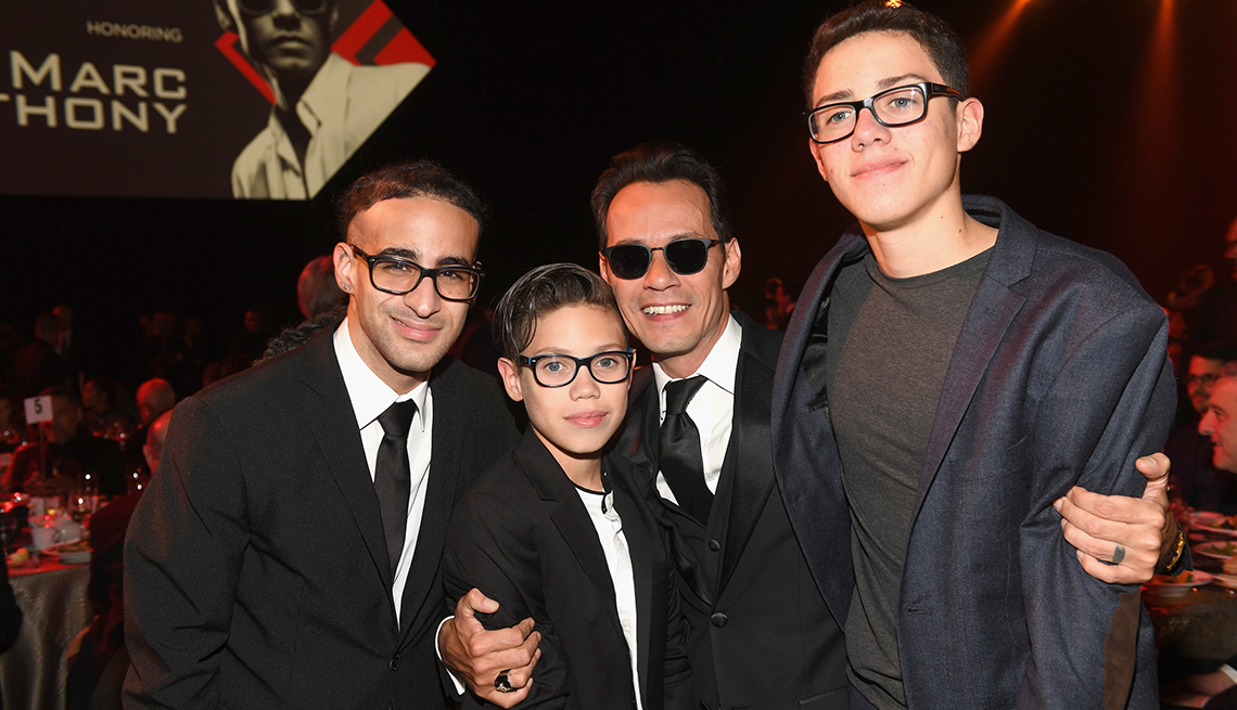 item 7 of Gallery image - Marc Anthony with his family