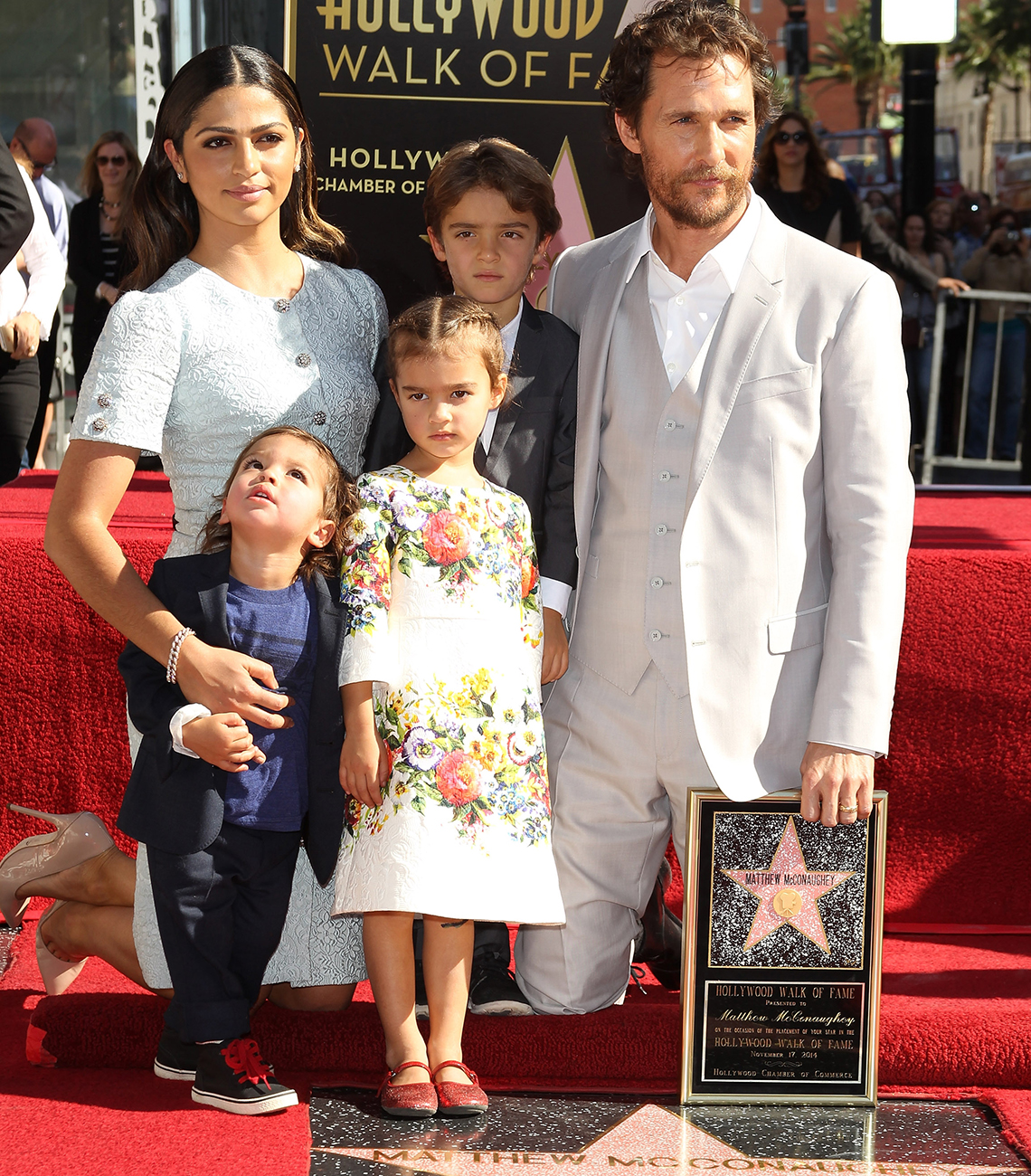 item 1 of Gallery image - Matthew McConaughey with his family