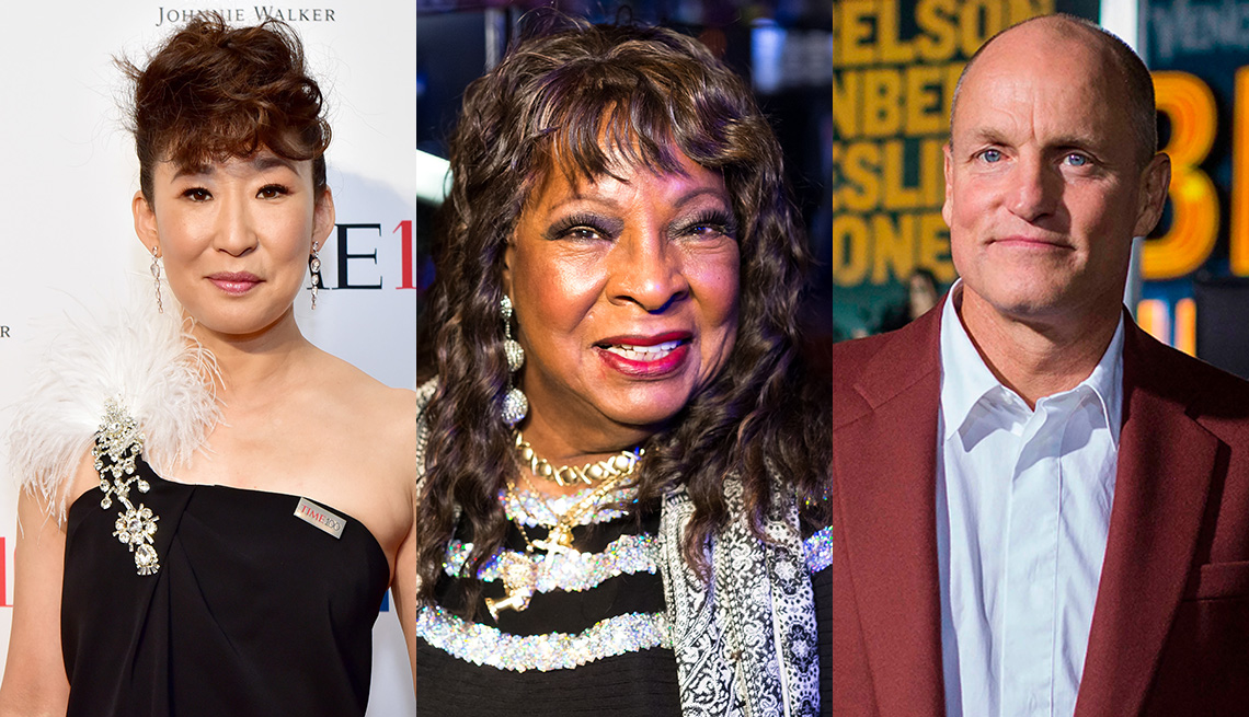 Sandra Oh, Martha Reeves and Woody Harrelson