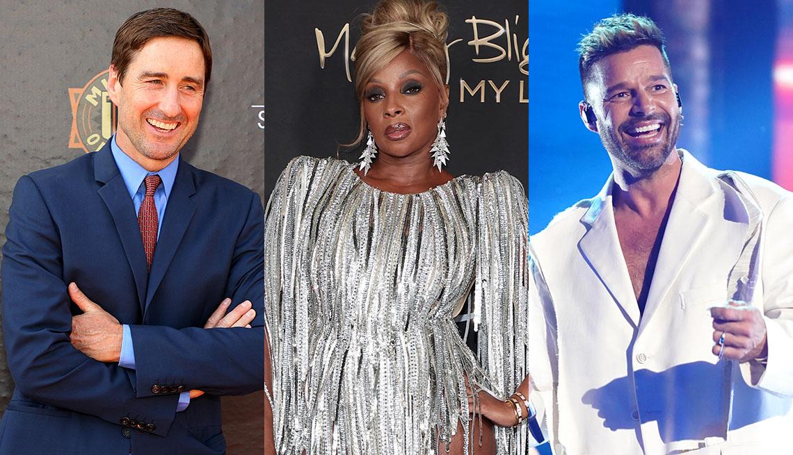 Luke Wilson, Mary J Blige y Ricky Martin.