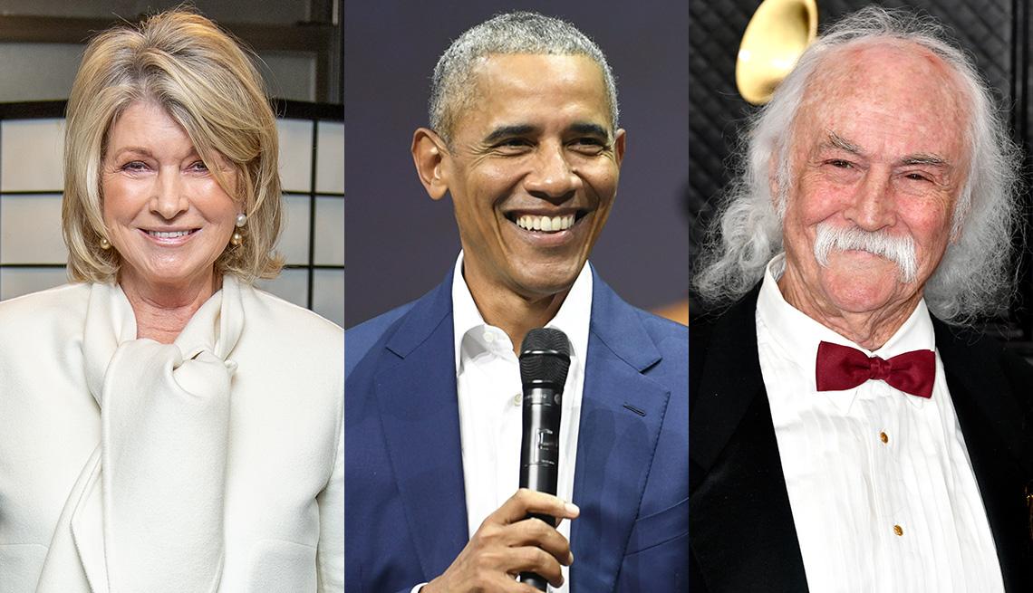Martha Stewart, former US President Barack Obama and David Crosby