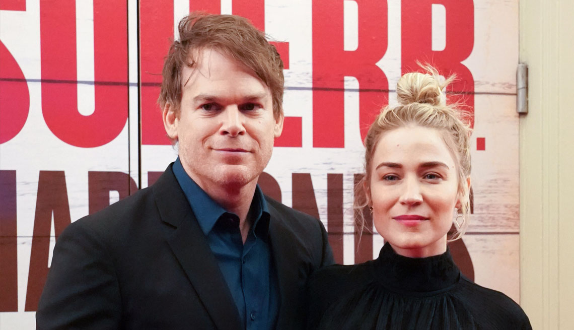 item 2 of Gallery image - actor michael c hall and wife morgan macgregor attend the broadway opening night of girl from the north country