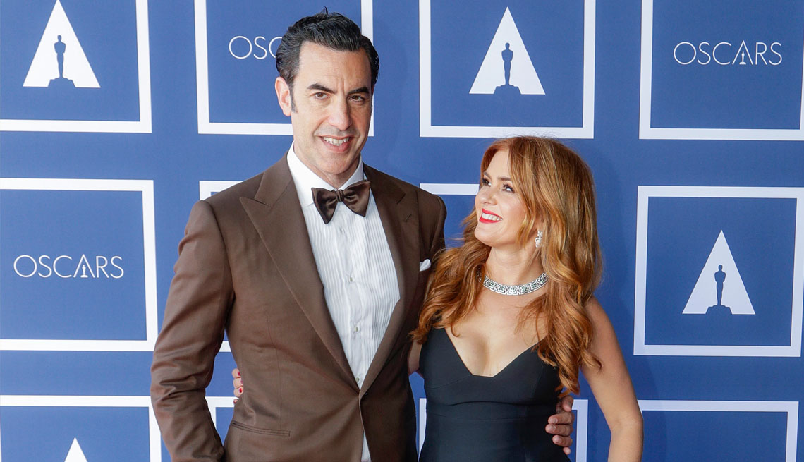item 11 of Gallery image - comedian and actor sacha baron cohen and isla fisher attending a screening of the oscars