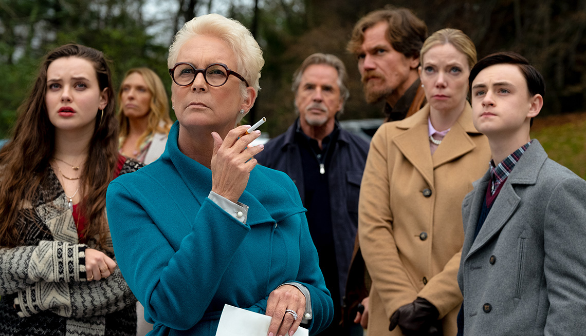 Jamie Lee Curtis in a scene from the film Knives Out