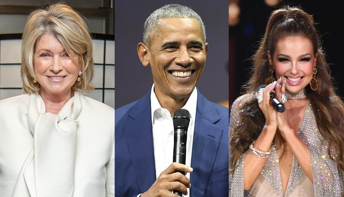 Martha Stewart, Barack Obama y Thalia.