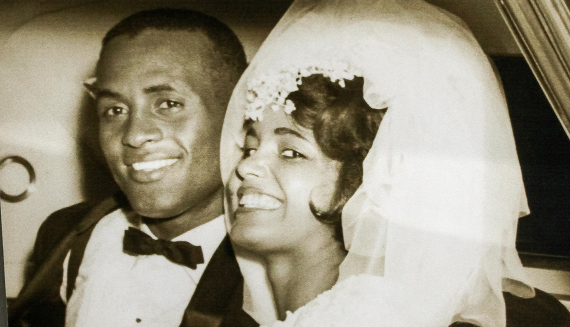 item 2 of Gallery image - Roberto Clemente and wife together on their wedding day