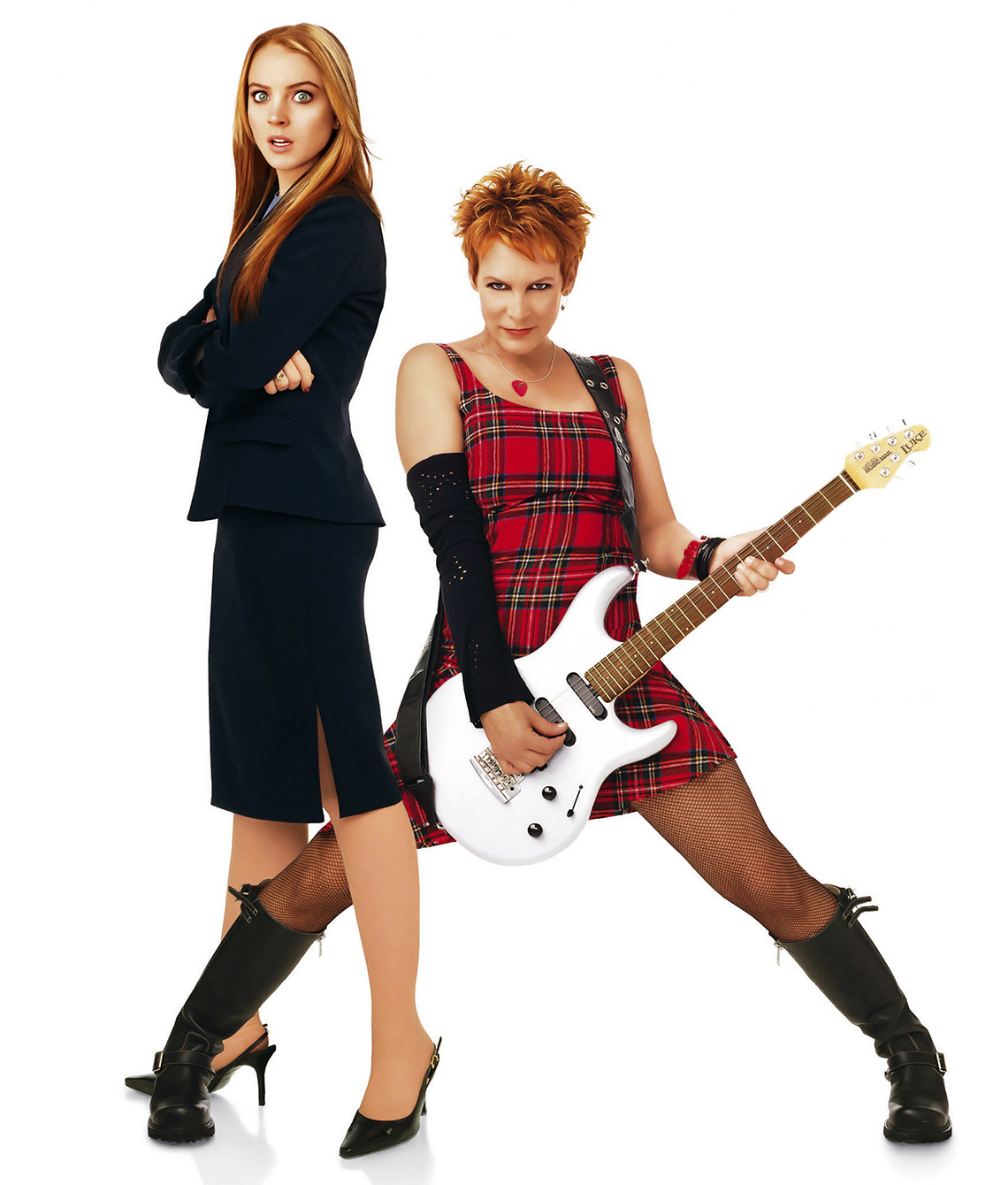 lindsay lohan and jamie lee curtis in the remake of the film freaky friday