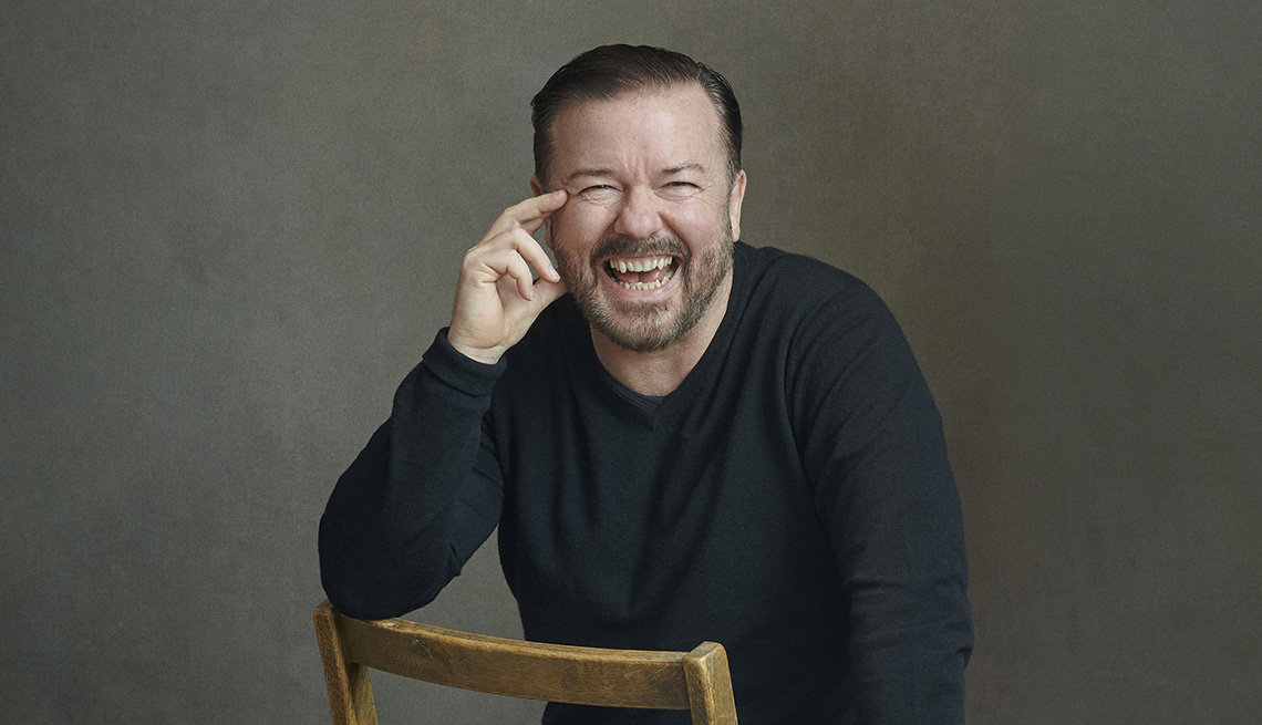 comedian ricky gervais turns sixty