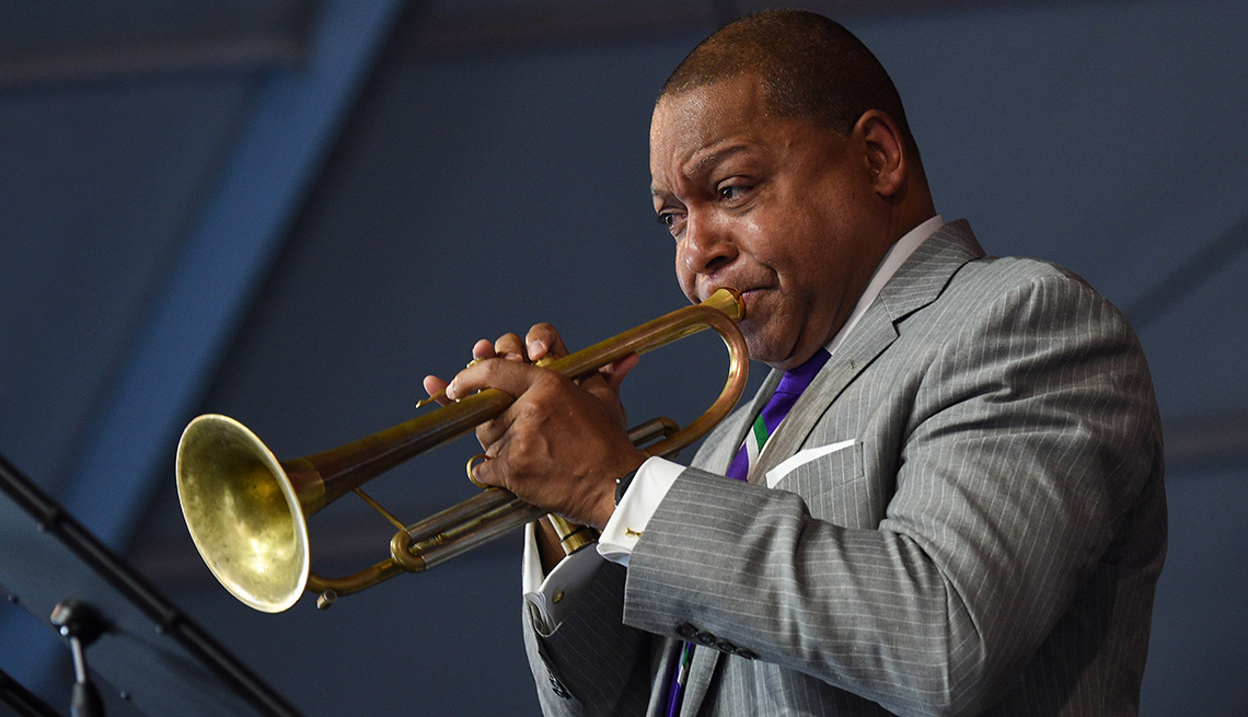 item 8 of Gallery image - Wynton Marsalis playing the trumpet