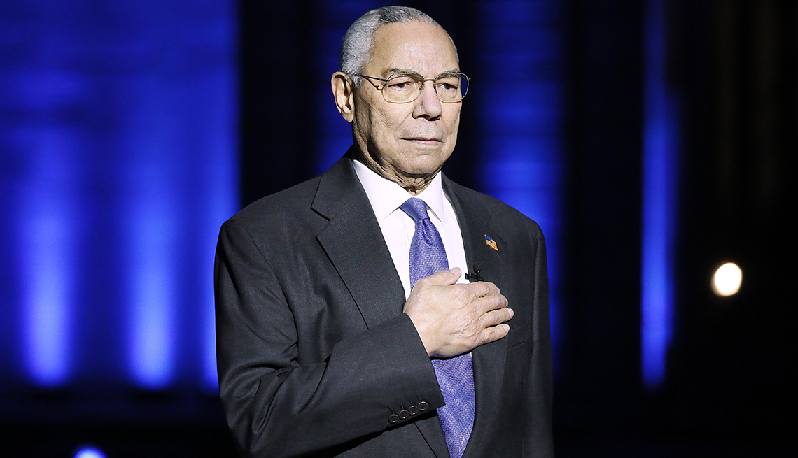 El general Colin Powell en el concierto del Día Nacional de los Caídos en Washington DC.