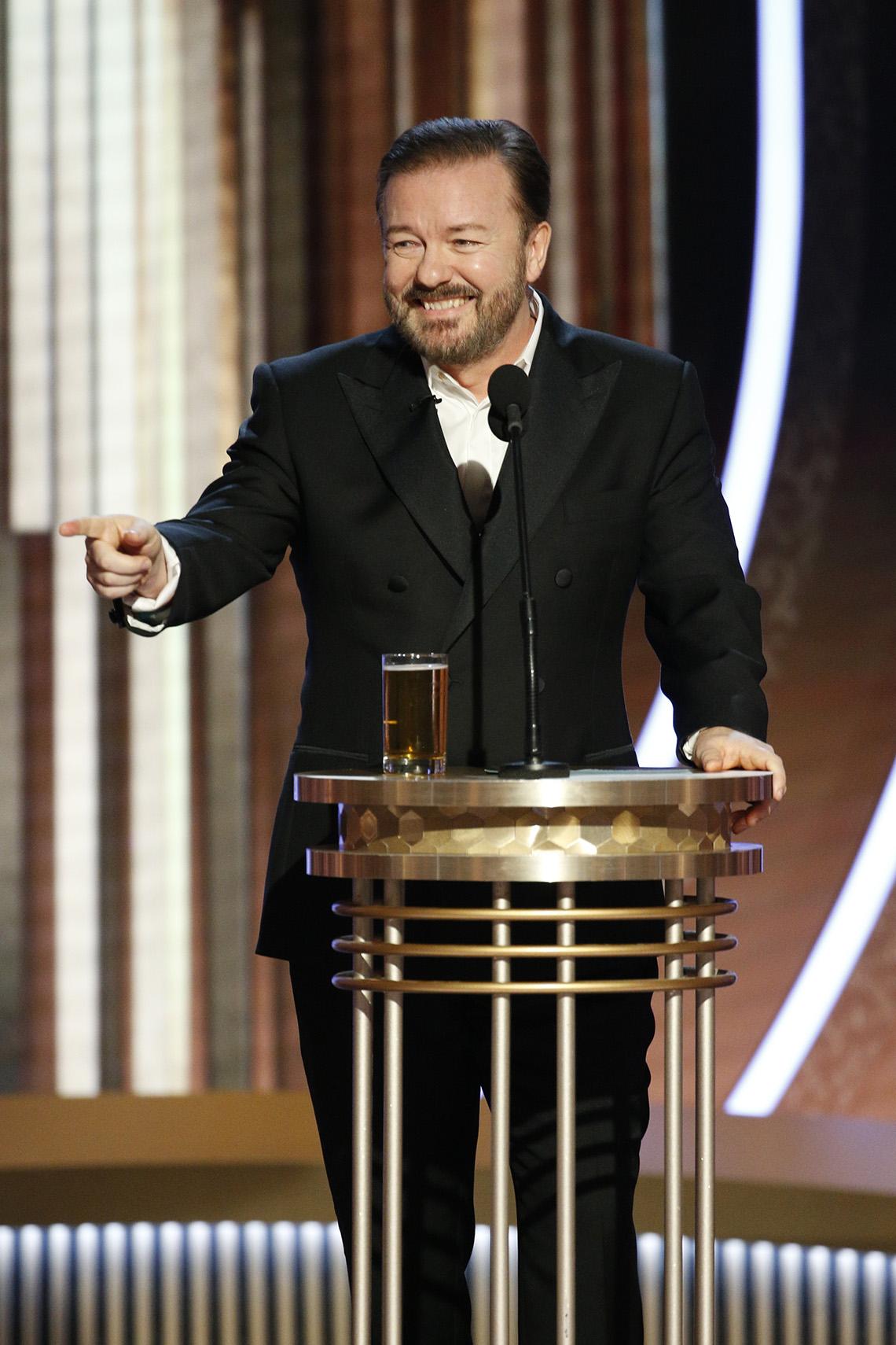 Ricky Gervais fue anfitrión de la 77a Entrega Anual de los Globos de Oro el 5 de enero de 2020 en Beverly Hills, California.