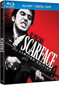 Cubierta de la película: Scarface con Al Pacino como Tony Montana